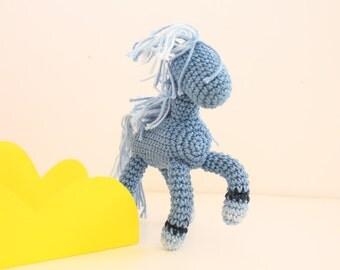 Amigurumi Pony, Crochet Equestrian miniature, My little pony, Posable  Pony, horse doll, hand knit self standing rustic toy, Icelandic pony