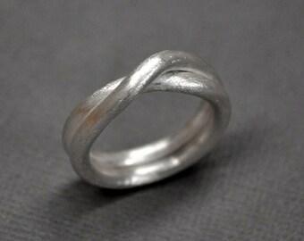 Men's Infinity Ring. Sterling Silver. Modern Contemporary Simple Sleek Elegant Design. Jewellery. Jewelry. Handmade.