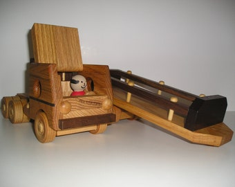 Lumber Truck with Hand Painted Driver and a Handrubbed beeswax finish.