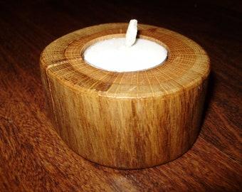 Oak tea light holder