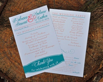 100 Simple Vintage Wedding Programs