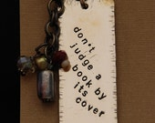 Copper Stamped Metal Bookmark
