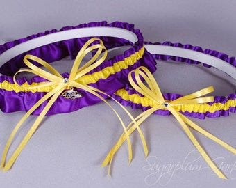 Baltimore Ravens Wedding Garter Set