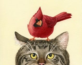 A Peculiar Encounter - 8x10 archival watercolor print by Tracy Lizotte