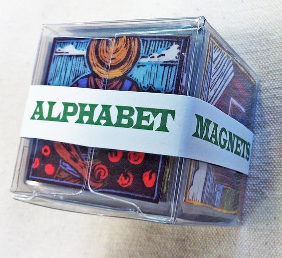 Farm Alphabet Refrigerator Magnets - Complete Set of 26 (Large)