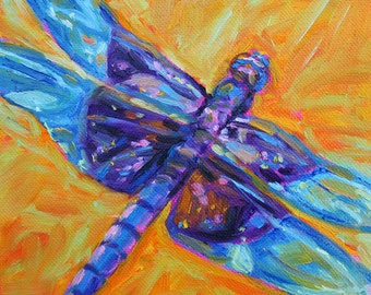 Dragonfly - Insect Art - Paper - Canvas - Wood Block