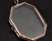 6 Glass Lockets, Frame Pendants, Octagon Horcrux, G2345
