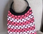 Very Easy Brickwork Bag - INSTANT DOWNLOAD PDF Knitting Pattern