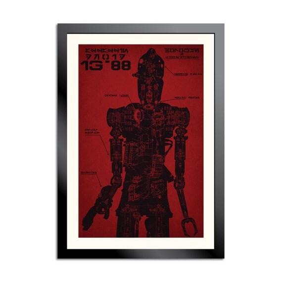 IG-88 Schematic Poster