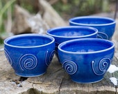 Blue Serving Bowls Set of Two by Bunny Safari
