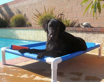 Outside Beds, Dog Beds, PVC Beds, 12 oz Marine Boat Canvas, 13 Colors, 28x36 Small To Medium Dogs Up To 80 Pounds.