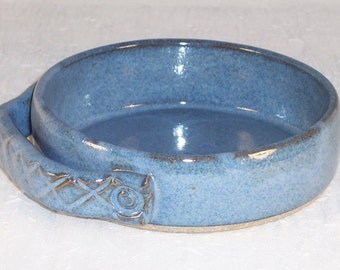 Brie Baker - Ceramic - Mini Casserole Dish - Stoneware - Blue - Handmade Baking dish - Wheel Thrown Baking Dish - Pottery Baker