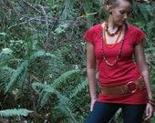 Higher guidance top-Cap sleeve- Hemp and Organic Cotton