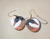 Roman Goose Geese Vintage Earrings