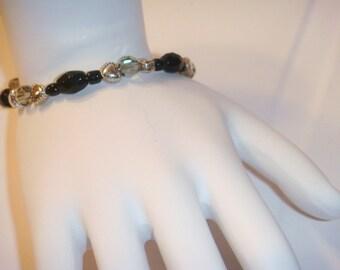 Swarovski heart toggle bracelet