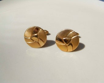 Vintage gold soccer like cuff links