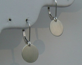 Earrings, Minimalist Disc Earrings, Circle Earrings, Hammered Earrings, Choose Sterling, Gold fill, or Rose Gold fill, Bridesmaids, Mothers
