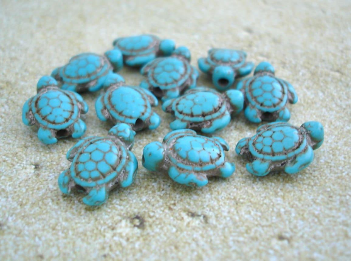 Small Faux Turquoise Sea Turtle Box  |Turquoise Sea Turtle