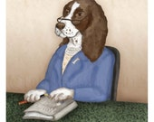Millie Presidential Pet Portrait print Signed Limited Edition