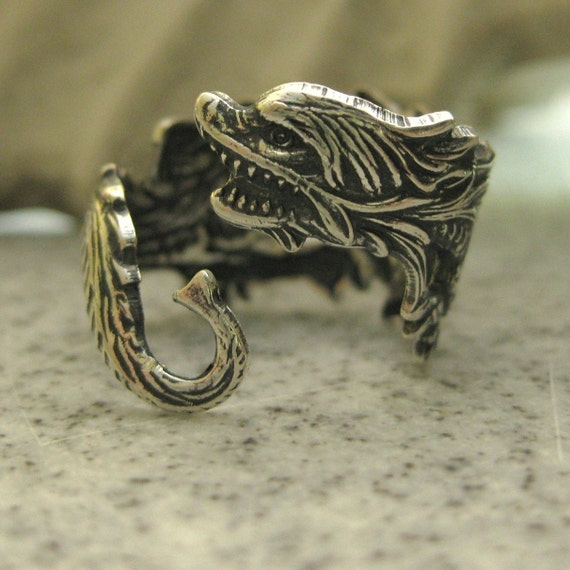 Dragon Ring vintage silver MY CONSTANT COMPANION