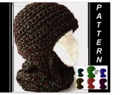 Hat Crochet PATTERN - ski mask,  #26 BALACLAVA,  Ski Hat 3 sizes- age 4 to adult, for boys, girls, men, women, children. digital download ,