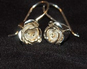 Sterling Silver Rose Bud Earrings