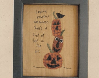 Primitive Wool Applique Pattern Folk Art Hint Of Fall