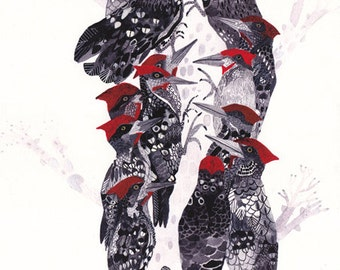 "Pecking Order - 11"" x 14"" and 16"" x 20"" Archival Print"