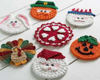 Holiday CD Coasters Crochet Pattern PDF