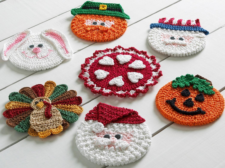 Holiday Cd Coasters Crochet Pattern Pdf