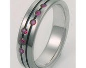 Titanium Engagement Riing with Rubies e1