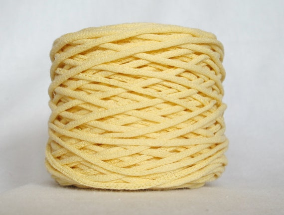 pale yellow tarn recycled t shirt yarn 78 yards. Black Bedroom Furniture Sets. Home Design Ideas