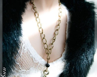 """Long Chain Necklace with Cross Charm for 16"""" dolls"""