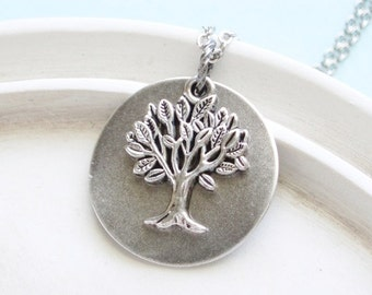 Silver Necklace Willow Tree Necklace Silver Jewelry Handmade on Etsy