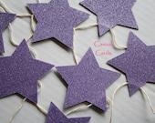 Purple Stars Banner Garland