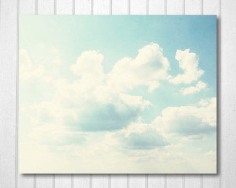 BUY 2 GET 1 FREE Nature Photography, Cloud Photo, Fpoe, Nursery Art, Blue Sky, White Fluffy Clouds, Summer Day, Wall Decor - Sweet Sky