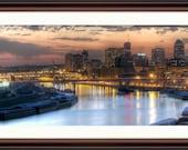 St. Paul, MN Skyline at Sunset Panorama - Fine Art Print
