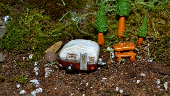 Items Similar To Glama Camping Fairy Garden Vintage Travel