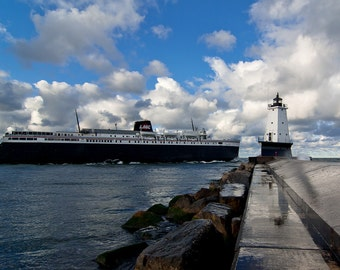 Morning Sail - Ludington - Canvas Wrap - Michigan Photography