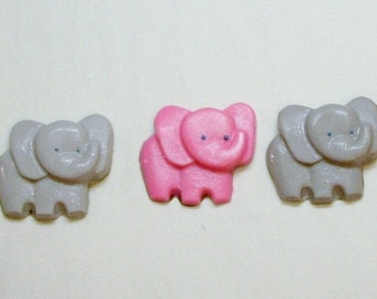 24 Baby Elephant cupcake toppers