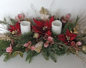 RESERVED FOR BUNNY Holiday Floral Arrangement and Mantle Centerpiece