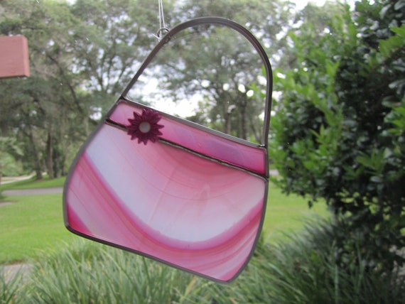 Pink Purse Suncatcher
