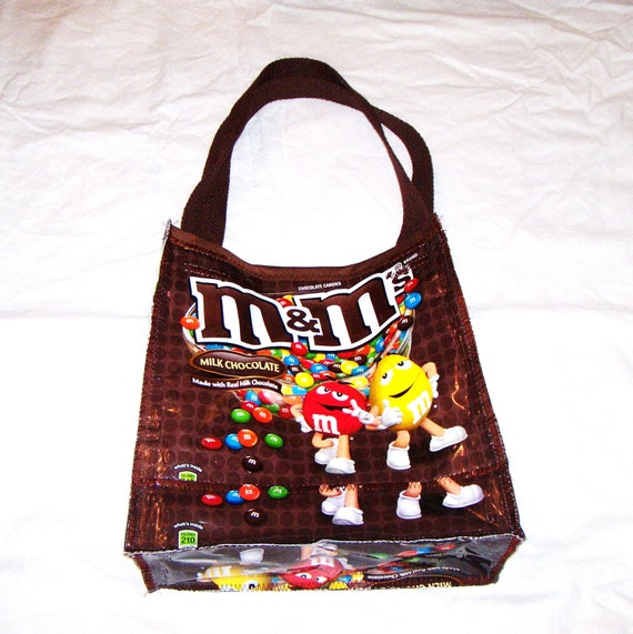 Unique Lunch or Snack Bag made with Recycled Chocolate Candy Bags upcycled