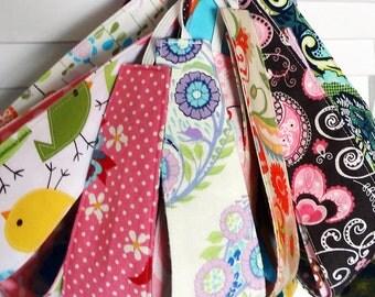 Child headbands, set of 5 reversible fabric headbands, PICK YOUR FABRICS, bunch pack, girl party favor gift, cotton cloth m2m matilda jane