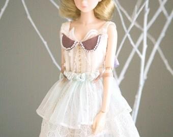jiajiadoll- pure fairylike green lace bowknots dress fit momoko or misaki or blythe pullip