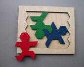 Three Man Puzzle. World's Hardest Three Piece Puzzle.