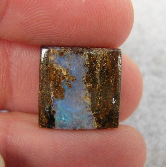 Soft Blue Australian Pipe Boulder Opal
