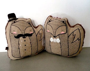 Mr and Mrs Fox CUSHION (Made to Order)