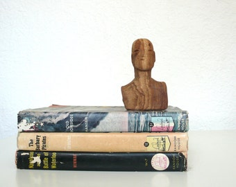 Hand Carved Wooden Bust