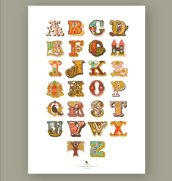 SALE! 1/3 OFF. alphabet giclée print on fine art paper. 12.5X18. pink.